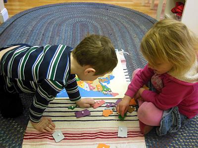Children solve Geographical Puzzle at Divinum Auxilium Academy
