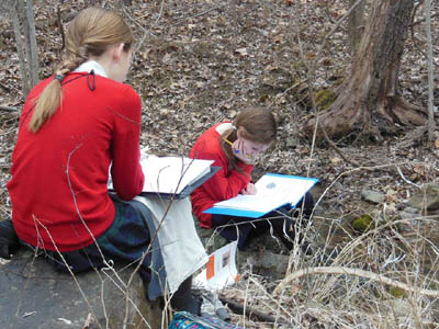Older Students Working Outside at Divinum Auxilium Academy